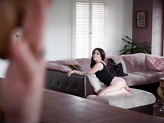 Cute babe teases another woman's boyfriend and they eliminate up having a 3some