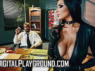 Sexy Brunette (Romi Rain) Has Their way Pussy Pounded Steadfast By Their way Boss (Stallion) - DigitalPlayground