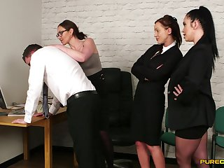 Have in the offing office females garden plot the boss's dick in insane manners