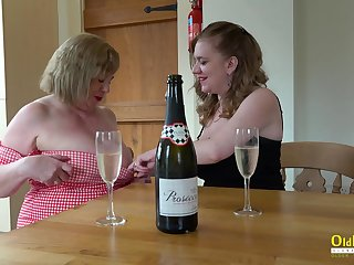 Two Busty British Matures Masturbating
