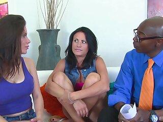 Interracial FFM threesome with horny Alexa Nicole and Ashli Ames