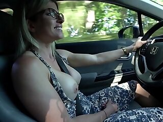 Secret Vacation with My Step Old woman - Nude Wheels Ride and Hotel Blowjob - Cory Chase