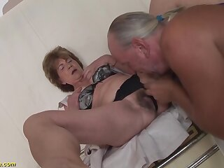 Crazy big breast extremist deepthroat loving granny enjoys rough ass fucking with their way swain