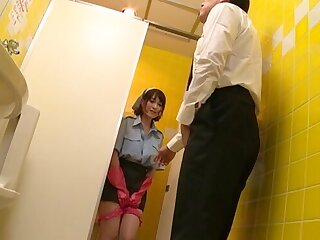 Dirty Japanese maid Oda Shiori goes down greater than her knees to give head