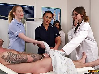 Patient gets his learn of sucked by tainted Hannah Shaw & Mikaela Forrester