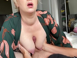 My Big Heavy Tits Smother A Cock On e get on Jizzed On every side