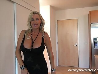 Wifey Fucked Wide of Big Black Cock And Swallows Cum