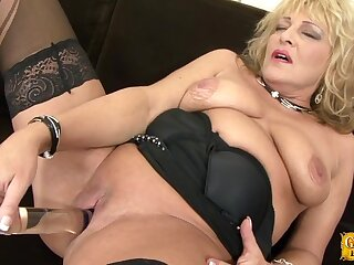 Dirty mature granny Sisy gets fucked hard by a large black dick
