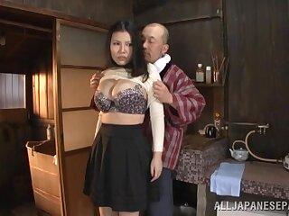 Dazzling Japanese MILF close to big tits, sensual XXX