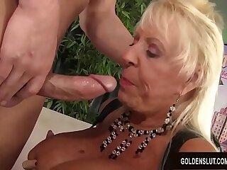 Prexy Grandma Mandi McGraw Sucks a Cock and Then Rides It with Thirst