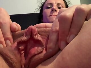 MILF With Big Pussy Oral cavity With an increment of Huge Clit Has Two Incredible Self Filmed Orgasms