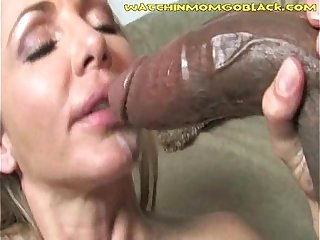 Son Helps Mommy Clean Black Cum