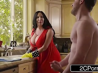 Chubby Busty Stepmom's Cum Cleaning - Sybil Stallone