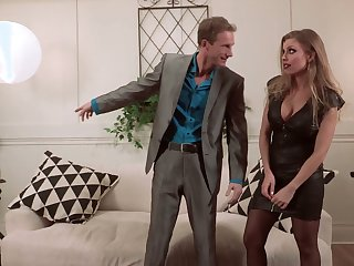 Perverted busty Britney Amber uses her low-spirited melons be fitting of surprising titjob