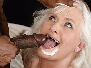 Venerable Granny on big black cock