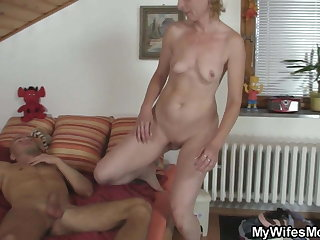 Blonde mother take law taboo sex