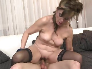 Residence story with mature mother and lucky son