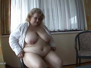 This big old lady wants cock with the addition of cum