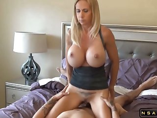 Big tits blonde milf fucked by undesigned gay blade