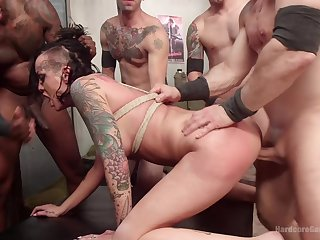 Gang banged and made to swallow like the ultimate whore