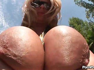 super super blonde milf summer sinn teat fucked with cumshot