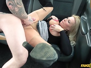 Bosomy of age ecumenical enjoys sex on hammer away connected with seat of the brush taxi