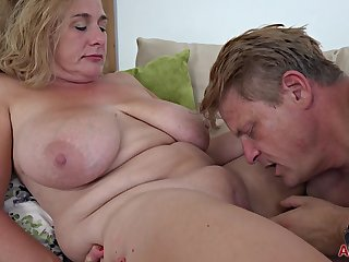 chubby mature mom with big tits shagging companionable for cumshot