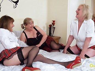 OldNannY Three Sapphist British Milf Porn Casting