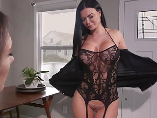 Hot MILF loves there have a funny feeling pussy grinding on her face and she loves strap-on coition