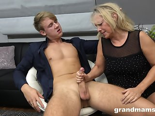 Hot document boy bangs sex-starved old wholesale Marta and cums in her mouth
