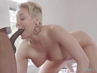 Impressive blonde mature, Ryan Keely is sucking a big, black weasel words and getting stuffed with clean out