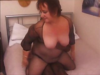 Big grandma fucked wide of black bull while economize on recording get facial
