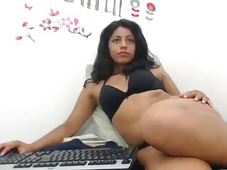 Horny Colombian slut trying take stand aghast at professional plus she loves her dildo