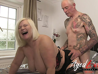 AgedLovE British Mature Lacy Starr Rough Fuck