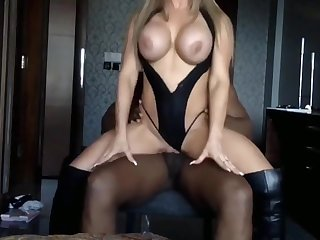 Busty Blonde MILF Fucked By BBC