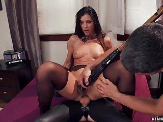 Big knob gimp butt fucking fucks mature slave