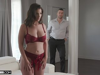 Rub-down the elegant MILF is ready for a healthy dose of cock