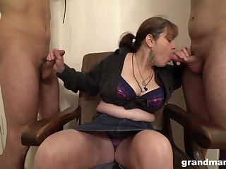 Matured German slut wants their way slaves to suck their way fat tits